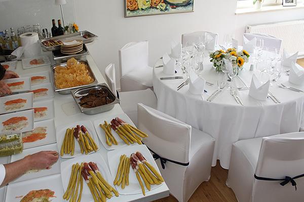 Speisen Vorbereitung