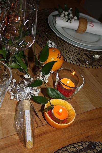 Orangen Kerzen